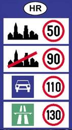 Megengedett sebesség határok Horvátország útjain