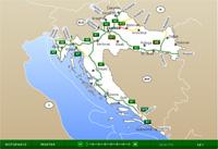 Horvát autó térkép